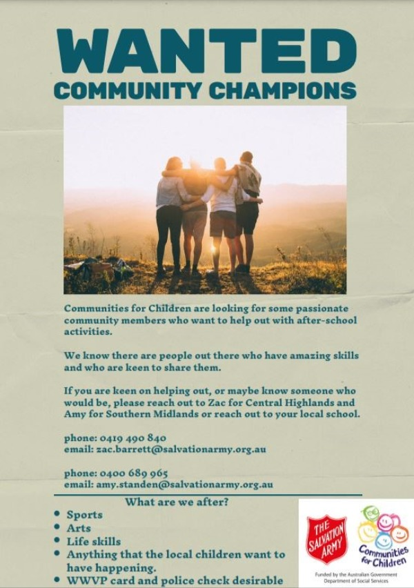 WANTED Community Champions